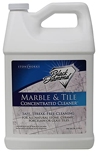 MARBLE & TILE FLOOR CLEANER. Great for Ceramic, Porcelain, Granite, Natural Stone, Vinyl and Brick. No-rinse Concentrate.(1-Gallon)