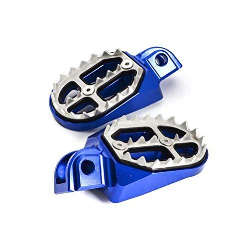 WangQianNan Reposapiés Pedal Reposapiés Reposapiés Estriberas Foot Pegs reclina for la Beta 125 150 250 300 350 390 400 430 450 480 498 500 RR 2T 4T X Trainer 2010-2019 2018 Decoracion (Color : Blue)