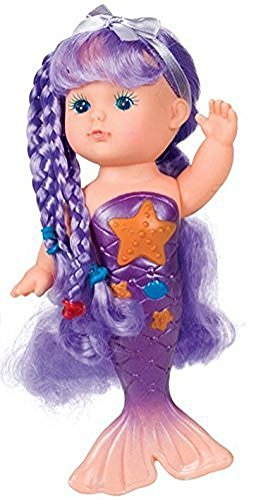 Toysmith Bathtime Mermaid Doll (Assorted Colors)