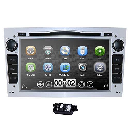 Reproductor multimedia para coche de 7 pulgadas, doble Din, estéreo de audio para coche en el tablero para Opel Corsa Vectra Astra, compatible con control del volante, navegación GPS, reproductor de