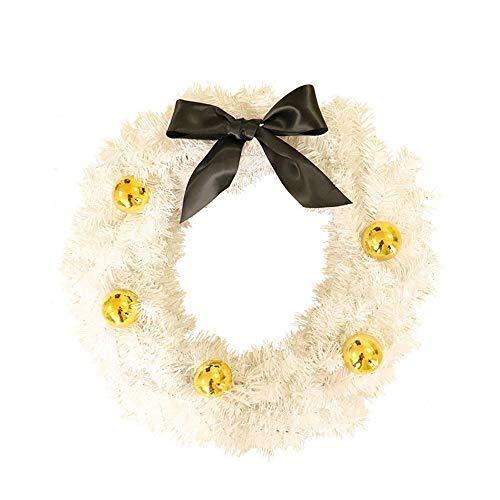 GYK Boutique 60 cm kerstwitte dubbele slinger