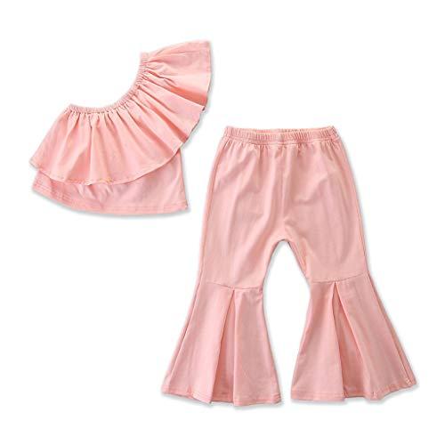 Conjunto de ropa para niñas de 0 a 10 años de edad, conjunto de ropa para bebé, rosa, 3-4 Años