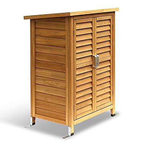 MCombo Gartenschrank Geräteschuppen Werkzeugschrank Outdoor-Schrank Gartenbox 0690, aus Holz Natur,...