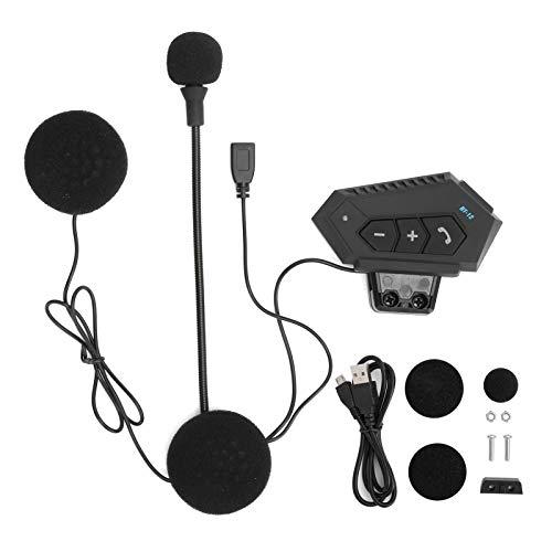minifinker Auriculares Bluetooth de Gran Capacidad de batería Cómodo Reducir el Ruido Auriculares de Casco, para decoración, para Exteriores, para Motocicleta(BT12)