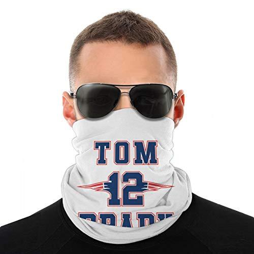 Tom Brady - Pañuelos multifuncionales para la cara, bufanda, polaina para el cuello, para hombres y mujeres