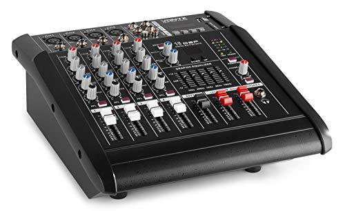 Vonyx AM5A Mixer Audio A 5 Canali Con Amplificatore E DSP/BT/SD/USB / MP3, Nero