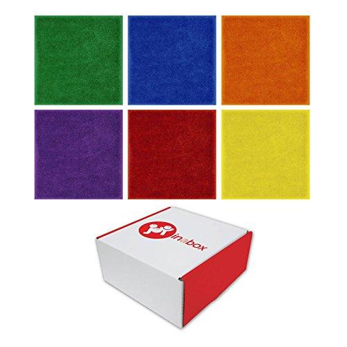 Joy Carpets JG-832 Joy in a Box Carpet Squares, Grade: 8 to Kindergarten, Assorted (Pack of 24)