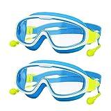 YWSZY Gafas Natacion, 2 Conjuntos de niños Nadar Gafas de natación...