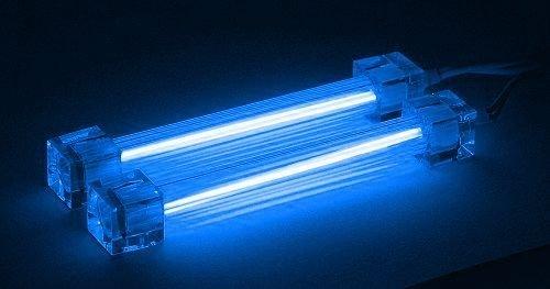 Neonröhre Kaltkathodenröhre (CCFL) 2er-Set 10 cm blau