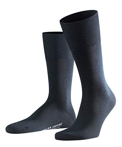 FALKE Herren Socken Airport - Merinowoll-/Baumwollmischung, 1 Paar, Blau (Dark Navy 6370), Größe: 45-46