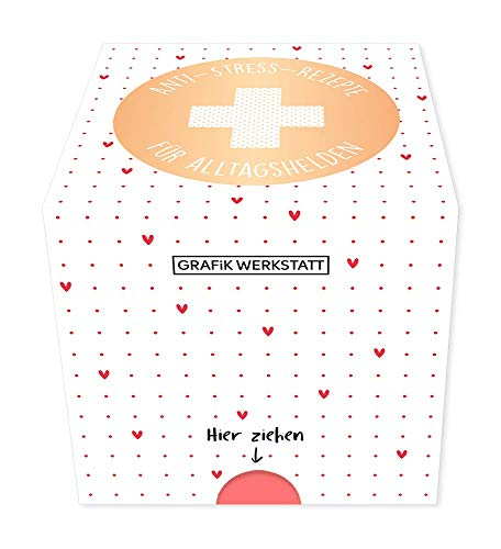Grafik-Werkstatt Message in a Box |Geschenkidee | 30 Kärtchen zum abreissen | Anti-Stress-Rezepte
