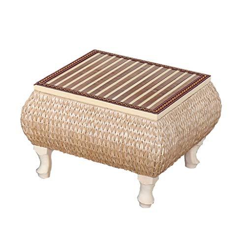 mesa de café Mesa de Centro Tipo césped Estilo japonés Ventana de la bahía de la Tabla pequeña Mesa de la Plataforma Baja del balcón Simple (Tamaño: 60x60x30cm)