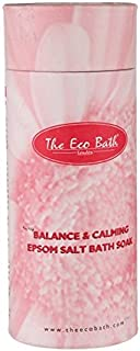 The Eco Bath Balance and Calming Epsom Salt Bath Soak 1000g (Pack of 2) - エコ風呂バランスと心を落ち着かせるエプソム塩浴千グラムを浸します (x2) [並行輸入品]