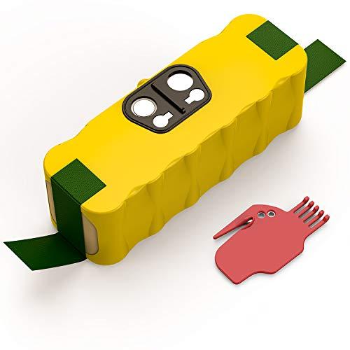 Batteria di Ricambio per iRobot Roomba, Yaber 4500mAh Ni-MH Batteria Compatibile con Aspirapolvere iRobot Roomba Serie 500 600 700 800 900