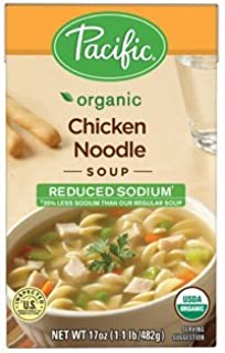 Pacific Foods, Organic Reduced Sodium Chicken Noodle Soup (Pack of 6)