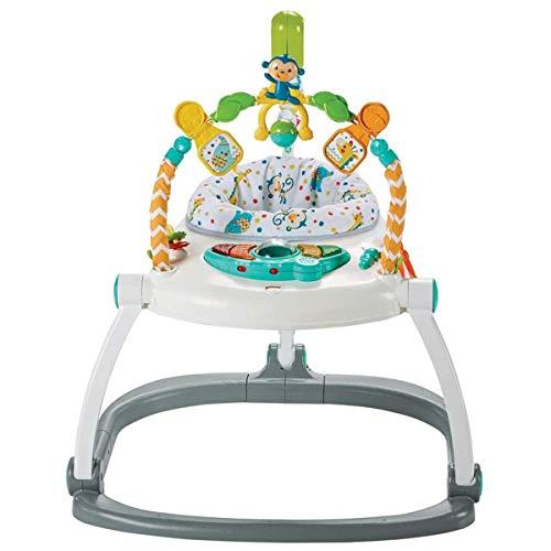 Fisher-Price Jumperoo Compact Carnaval con luces, sonidos y música, plegable para facilitar el transporte, 9 meses y más, FDG98