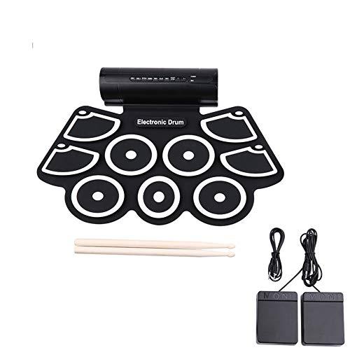Set de batería electrónica para niños portátil de sobremesa Kit de Tambor electrónico Incorporado Altavoces Tambor Pedales de Tambor
