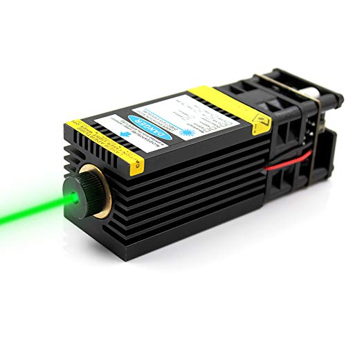 Oxlasers 12V DIY 520nm 1W Focusable Green Laser Module with PWM Control