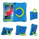 NLR Kids EVA Case for iPad | Multi-Direction Stable Stand | Compatible with 10.2-Inch iPad 2020/2019 (8th/7th Generation) (Blue+Green)