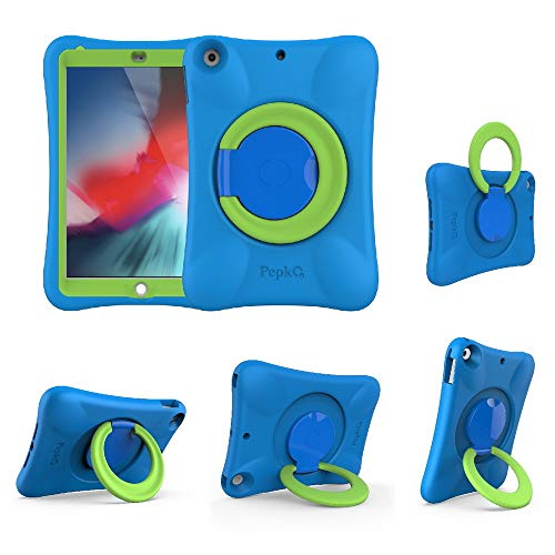 NLR Kids EVA Case for iPad | Multi-Direction Stable Stand | Compatible with 9.7-Inch New iPad 2018/2017 (6th/5th Generation) / iPad Air 2 / iPad Air (Blue+Green)