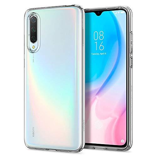 Spigen Liquid Crystal Kompatibel mit Xiaomi Mi 9 Lite Hülle, Transparent TPU Silikon Handyhülle Durchsichtige Schutzhülle Case Crystal Clear S52CS26401