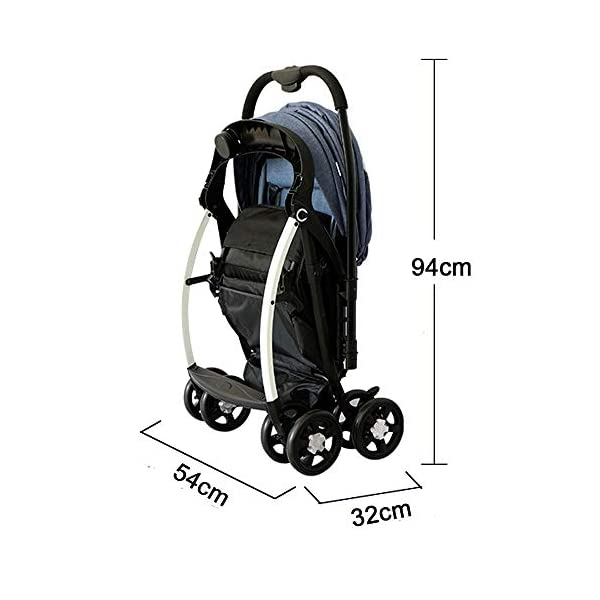 MOMOJA Foldable Baby Stroller Pushchairs 5 Point Harness Max Capacity 25kg (Blue) MOMOJA Easy folding - this pushchair is as easy to fold away as possible - the comfort stroller can be folded with one hand only within seconds, leaving one hand always free for your little ray of sunshine. Long use - this buggy can be used for a very long time; it is suitable From birth (also compatible with 2-in-1 carrycot or comfort fix infant car seat) up to a maximum of 25 kg. Comfortable - backfriendly push handle adjustable in height; backrest and footrest are multi-adjustable, the hood extendable; in addition, the pushchair comes with suspension, swiveling front wheels, soft padding and large shopping basket. 5