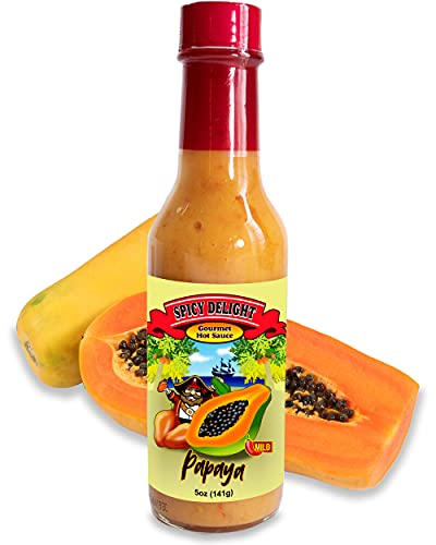 Spicy Delight Best Hot Sauce by Flavor Pirate, Aruba Hot Sauce Made With Habanero Pepper, Papaya,...