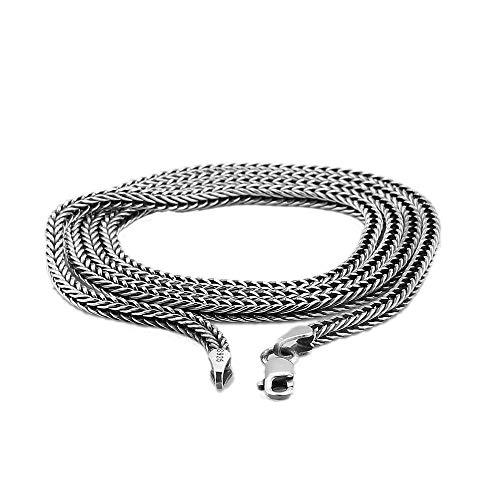 Genrics Collar Vintage 925 Joyería de Plata Esterlina Moda Tailandesa Punk de Plata Hombres Cadenas de Serpiente Collares para Colgantes 2.8mm 60 Cm Collar de Cadena