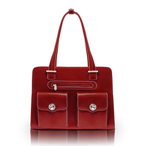 15.4' Leather Fly-Through Checkpoint-Friendly Ladies' Laptop Briefcase