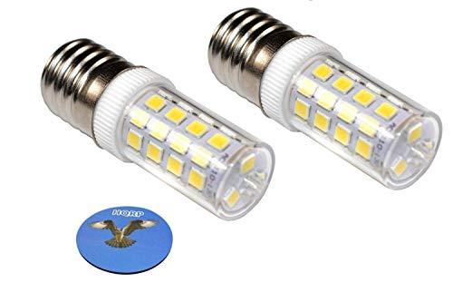 HQRP 2 piezas E17 Base 43 SMD 2835 LED Bulbo Regulable 220V Blanco Frio para microondas / refrigerador / campana extractora de cocina / luces de campana extractora Reemplazo, Portavasos
