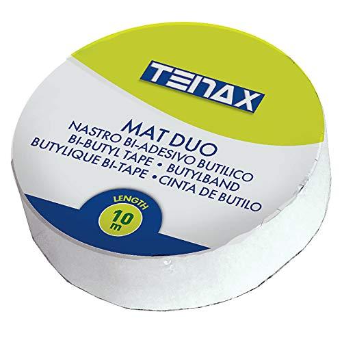 Tenax Mat Duo - Cinta Adhesiva de Doble Cara para fijación de césped sintético, 0,05 x 10 m, Gris
