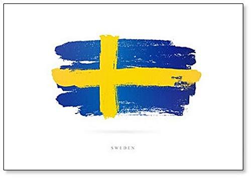 Kühlschrankmagnet, Motiv Abstrakte Flagge von Schweden