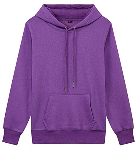 ZFQQ Unisex Hooded Sweatshirt Einfarbig Lässig Übergroßes Sweatshirt