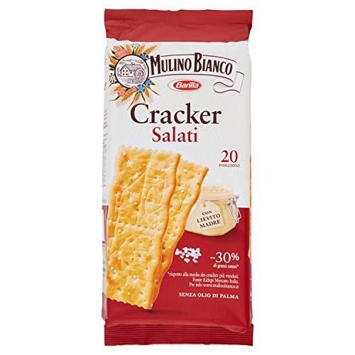 Mulino Bianco Cracker Salati con una Lievitazione Naturale, Snack Salato per la Merenda, 500 g