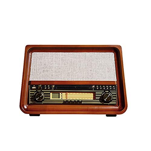 LITINGT Reproductores de Discos, Tocadiscos de Vinilo, Tocadiscos de Escritorio de Moda, Altavoz pequeño para el hogar, grabadora Bluetooth de gramófono Retro