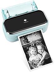 Phomemo M03 Impresora Fotográfica Portátil - Impresora Portátil Bluetooth de 80 Pulgadas Compatible con iOS y Android, Impresión en Blanco y Negro para Fotos, Diario de Diseño, Listas, Regalo - Verde