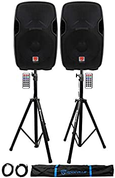 "Rockville BPA15 15"" Powered 800W DJ PA Speakers review"