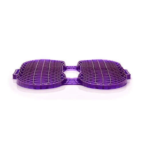 Purple Everywhere Seat Cushion - Seat Cushion for The Car Or Office Chair - Temperature Neutral Grid