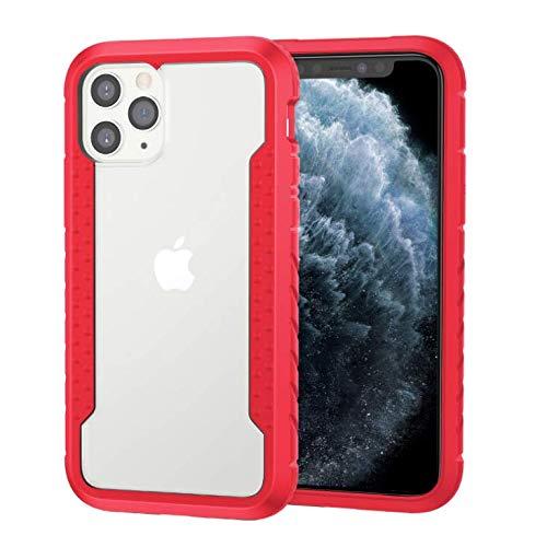 GOBY Coque iPhone 11 pro max Case Slim Fit TPU avec Support de BagueSilicone Gel Anti Mince Placage Bumper Housse Lustre Métal 360° Bague Support Téléphone Voiture Etui (rouge)