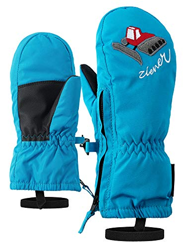 Ziener Baby LE ZOO MINIS glove Ski-handschuhe / Wintersport |warm, atmungsaktiv, blau (sea), 98cm