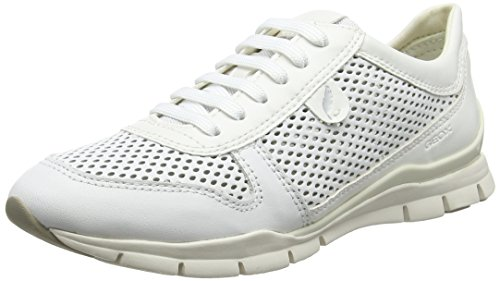 Geox Damen D Sukie F Sneaker, Weiß (White), 40 EU