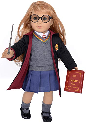 ebuddy Hermione Inspired Doll Outfit with Accessories