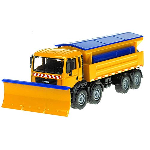 SLONG Legierung Fahrzeug-Druckguss-Kehrmaschine 01.50 Winterdienst Removable 8 Felgenreiniger Traktor Der Cast Model Hobby Spielzeug