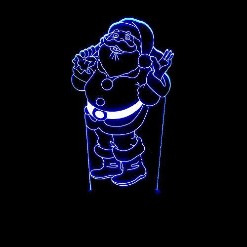 Tcaijing nachtlampje, led-kerstman, 3D-visual stereo licht, led-decoratie, persoonlijkheid, nachtlampje, binnenverlichting, tafellamp, decoratie