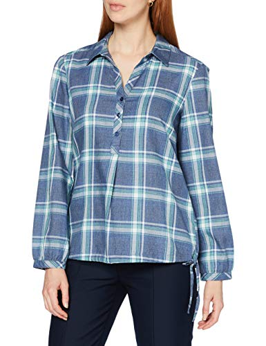 Cecil Damen 342273 Bluse, Middle Blue Melange, XX-Large