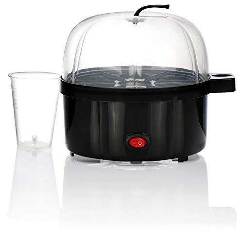 COM-FOUR® 350 W eierkoker, 7-eierkoker, oneindig harde of zachte eieren, elektrische eierkoker voor alleenstaanden en gezinnen