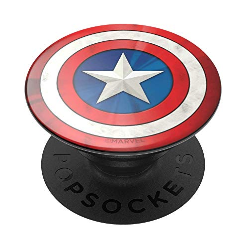 PopSockets: PopGrip with Swappable Top for Phones & Tablets - Marvel - Captain American Icon