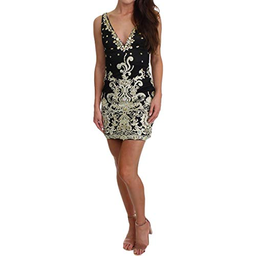 JVN by Jovani Womens Homecoming Special Occasion Semi-Formal Dress Black 0