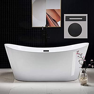 WOODBRIDGE B0017-MB-Drain &O Bathtub, Matte Black