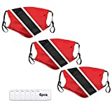 Include 3 PACKS.100% Polyester. Equipped With Six Activated Carbon Filters With Replaceable 5-layer Protection, M-shaped Nose Clip. Very Soft, Breathable, Waterproof, Washable.The Elasticity Of The Buckle Can Be Adjusted. Flag Of Trinidad And Tobago ...